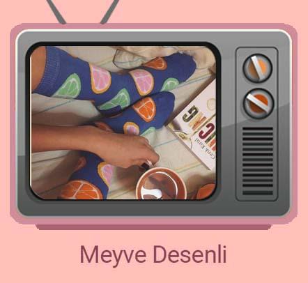 The Socks Company Meyve Desenli Çoraplar