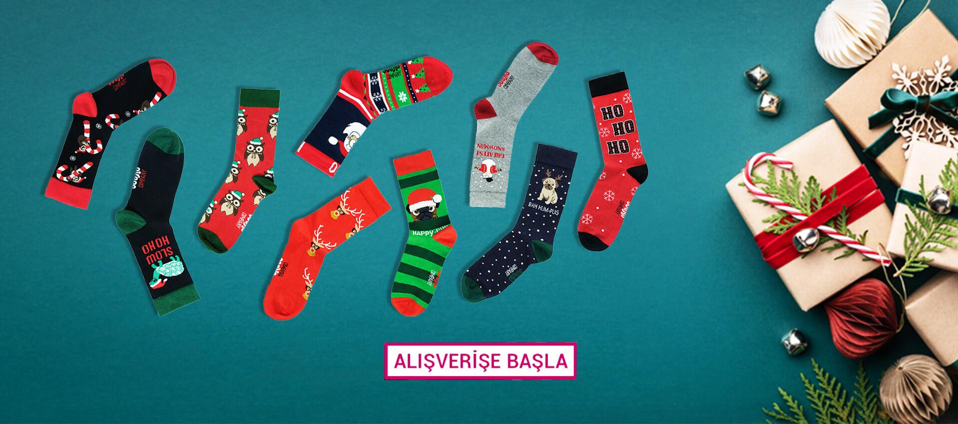 The Socks Company Yılbaşı Desenli Çoraplar